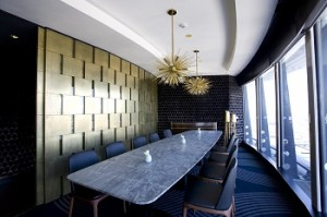 The Sugar Club Dining Room - Metalier with Halo metal polish
